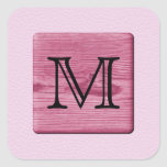 Pink Patterned Image, with Custom Monogram Letter Stickers