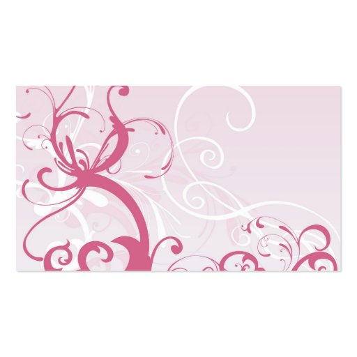 Pink patterns Profile Card Business Card