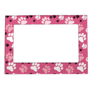 Pink Paw Print Magnetic Frames