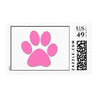 Pink Paw Print stamps