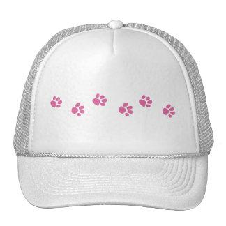Pink Paw Prints Hat