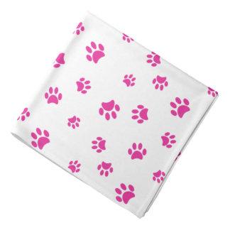 Pink Paw Prints Pattern Bandana