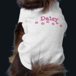 """*Pink Paw Prints Pet T Shirt<br><div class=""""desc"""">Easily customize this cute doggie shirt. Check-out the matching people t-shirts in the &#39;Dog Owner&#39; section of my store.</div>"""