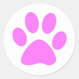 Pink Paw Sticker