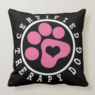 Pink Paw Therapy Dog Snuggling Pillow