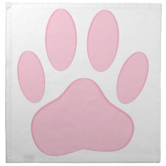 Pink Pawprint Cloth Napkin