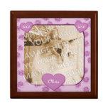 Pink Paws and Hearts Pet Memorial Keepsake Box
