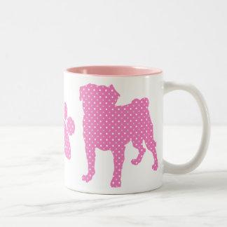 Pink Paws and Pugs Mug
