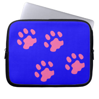 Pink Paws  Neoprene Laptop Sleeve 10 inch
