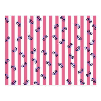 Pink Paws Postcard