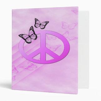 Pink Peace 3 Ring Binder