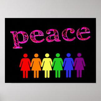 pink peace black LGBTQIA Poster
