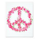 Pink Peace Flowers Invitation