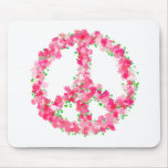 Pink Peace Flowers Mousepads