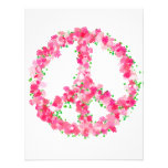 Pink Peace Flowers Personalized Invite