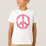 Pink Peace Flowers T-Shirt