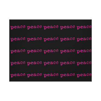 pink peace on black canvas print