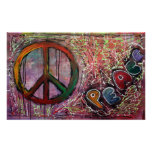 Pink Peace Poster