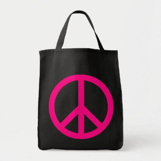 Pink Peace Sign Bag