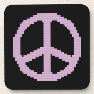 Pink Peace Sign Coasters
