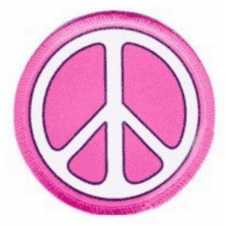 PINK PEACE SIGN CUTOUT
