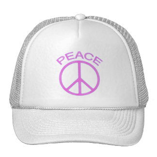 Pink Peace Sign Mesh Hat