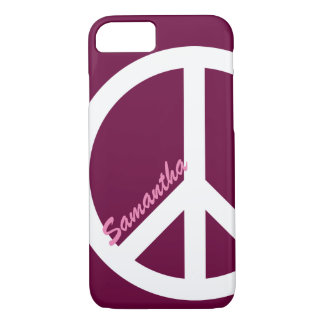 Pink Peace Sign iPhone 7 case