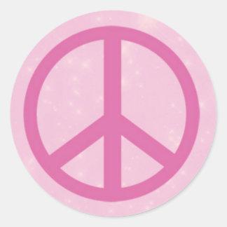 Pink Peace Sign.jpg Round Sticker