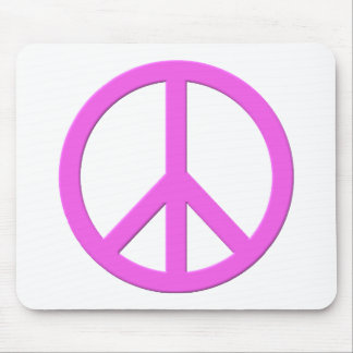 Pink Peace Sign Mouse Pad