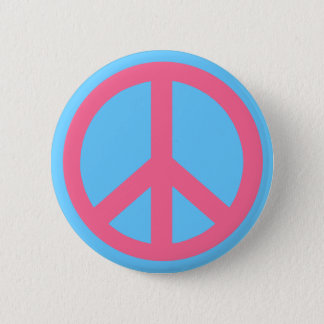 Pink Peace Sign Products Pinback Button