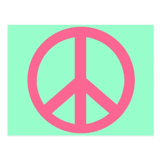 Pink Peace Sign Products Postcard