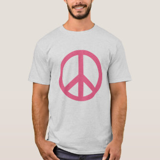 Pink Peace Sign Products T-Shirt