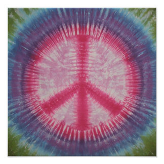 Pink Peace Sign Tie Dye