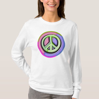 Pink Peace Sign Woman's T-shirt