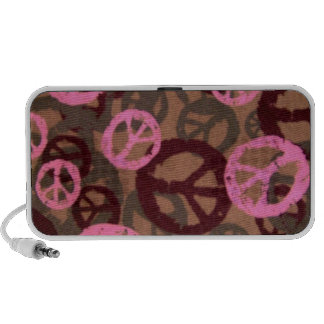 Pink Peace Signs Camo Look Speaker