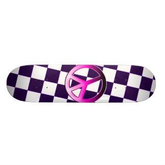 Pink Peace Skateboard Deck