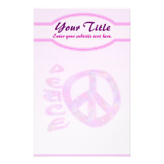 Pink Peace Stationery