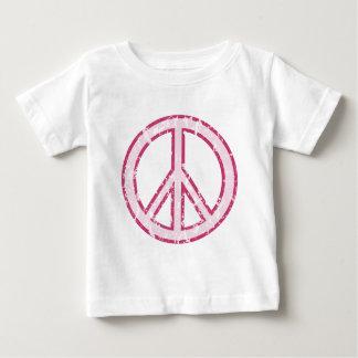 Pink Peace Symbol Baby T-Shirt