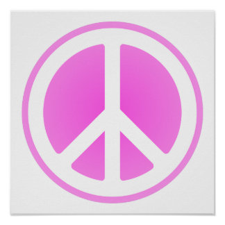 Pink Peace Symbol Poster