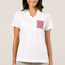 Pink Peace Wheel, Abstract Soft Dusty Rose Polo Shirt