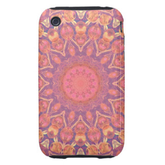 Pink Peace Wheel, Abstract Soft Dusty Rose Tough iPhone 3 Cover