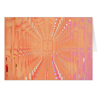 Pink Peach Abstract Tunnel of Dreams Card