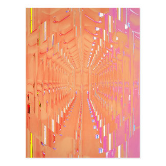 Pink Peach Abstract Tunnel of Dreams Postcard