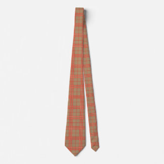 Pink, Peach and Brown Plaid Neck Tie