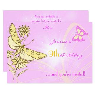 Pink Peach Butterfly RSVP Card