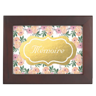 Pink&Peach Floral Pattern Memory Box