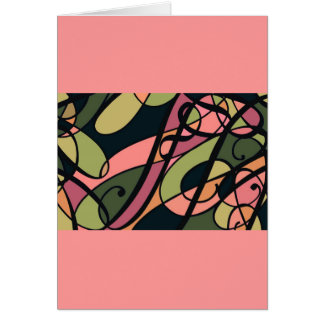 Pink Peach Green ♥ Swirl Abstract, template