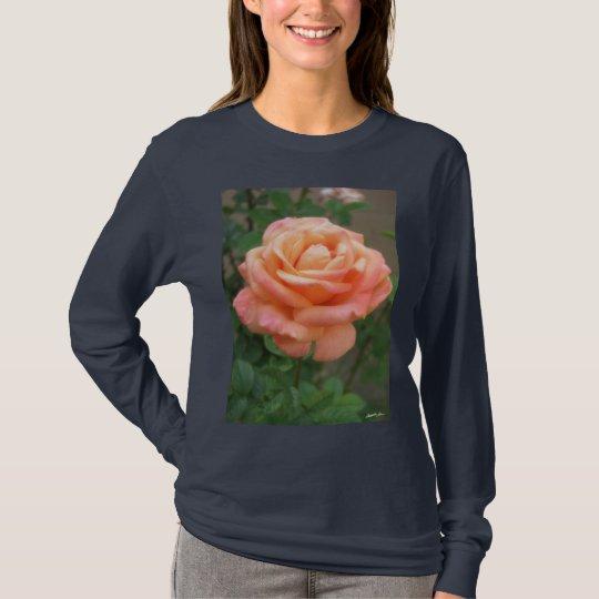 Pink Peach Rose T-Shirt