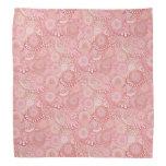 Pink, peach swirl pattern bandana