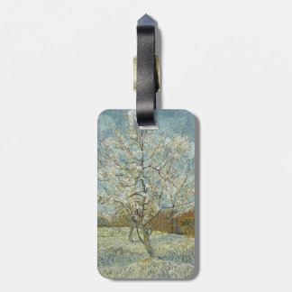 Pink Peach Tree by Vincent Van Gogh Travel Bag Tags